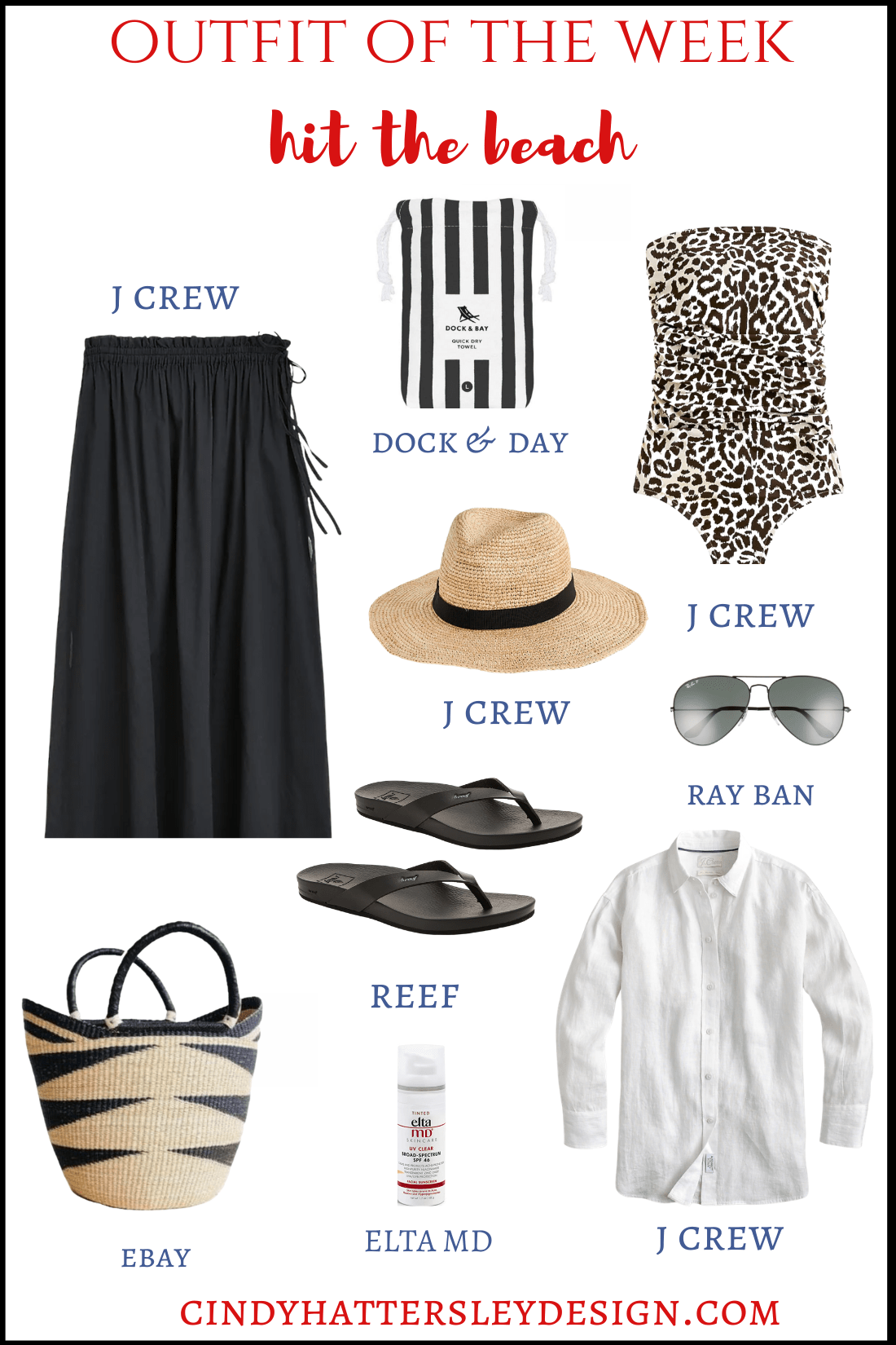 outfit of the week-hit the beach