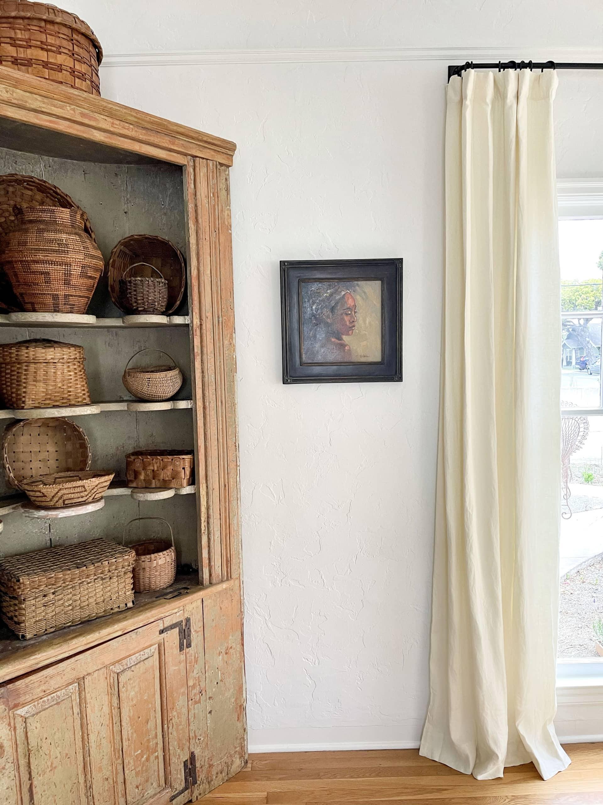 pottery barn belgian linen curtain panels