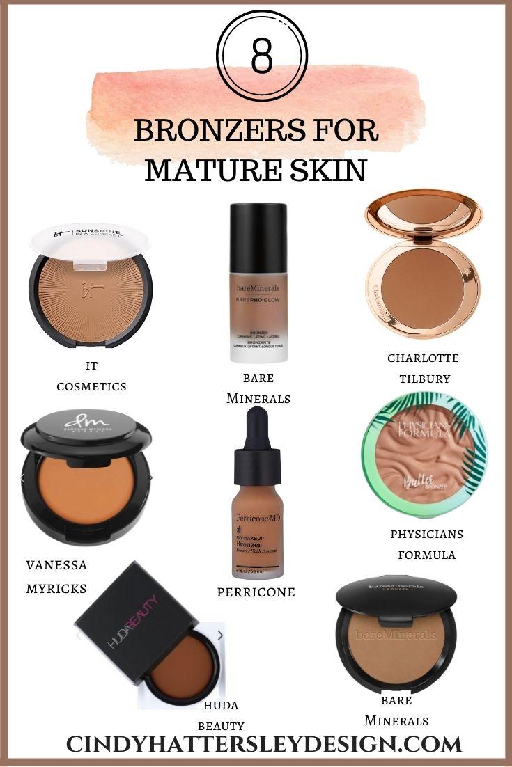 eight bronzers for mature skin