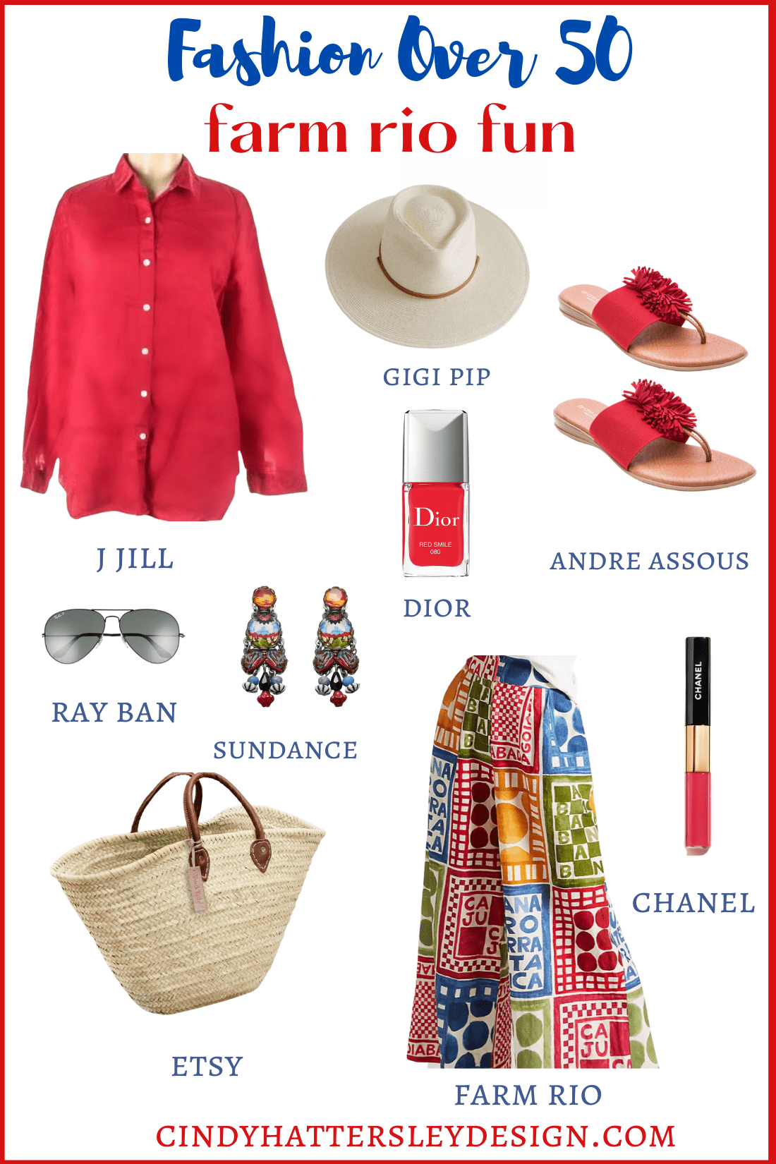 colorful outfit featuring farm rio