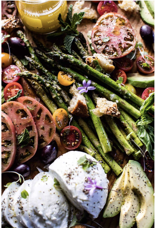 half baked harvest panzanella caprese salad
