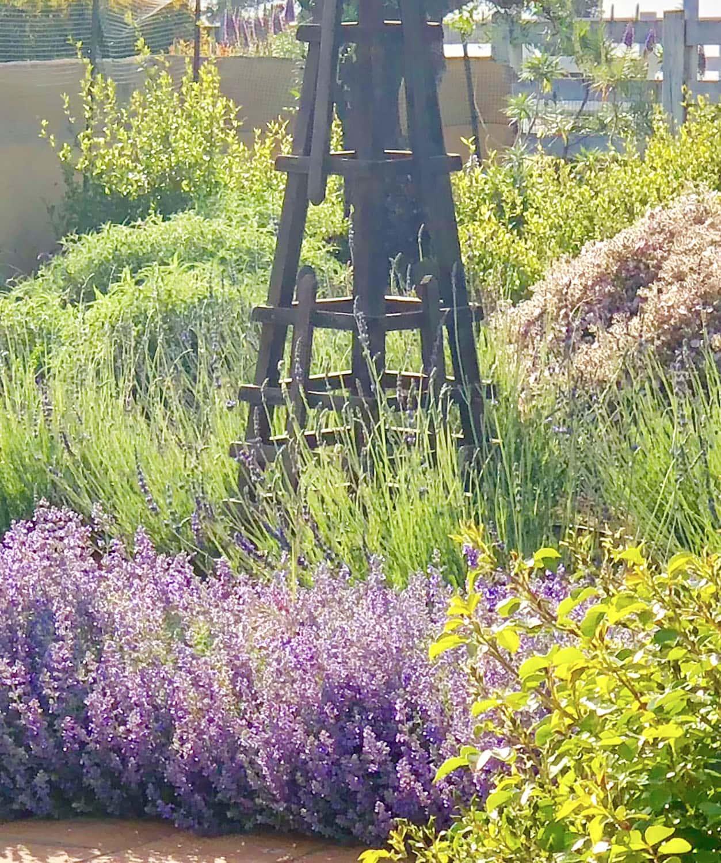 obelisk in cindy hattersley's garden
