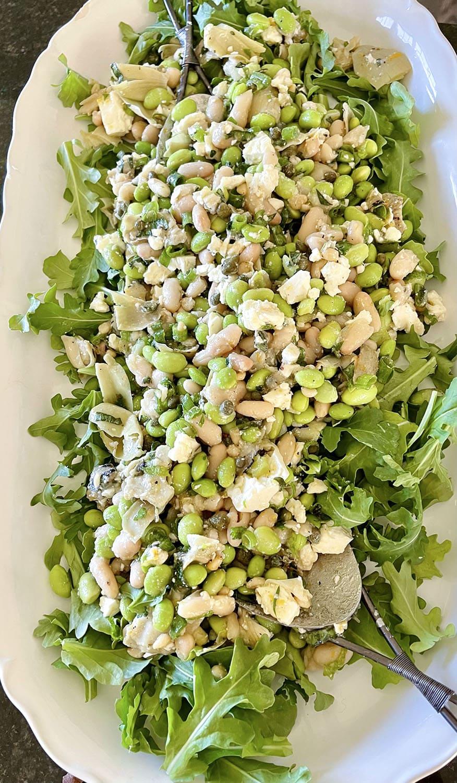 white bean edamame salad