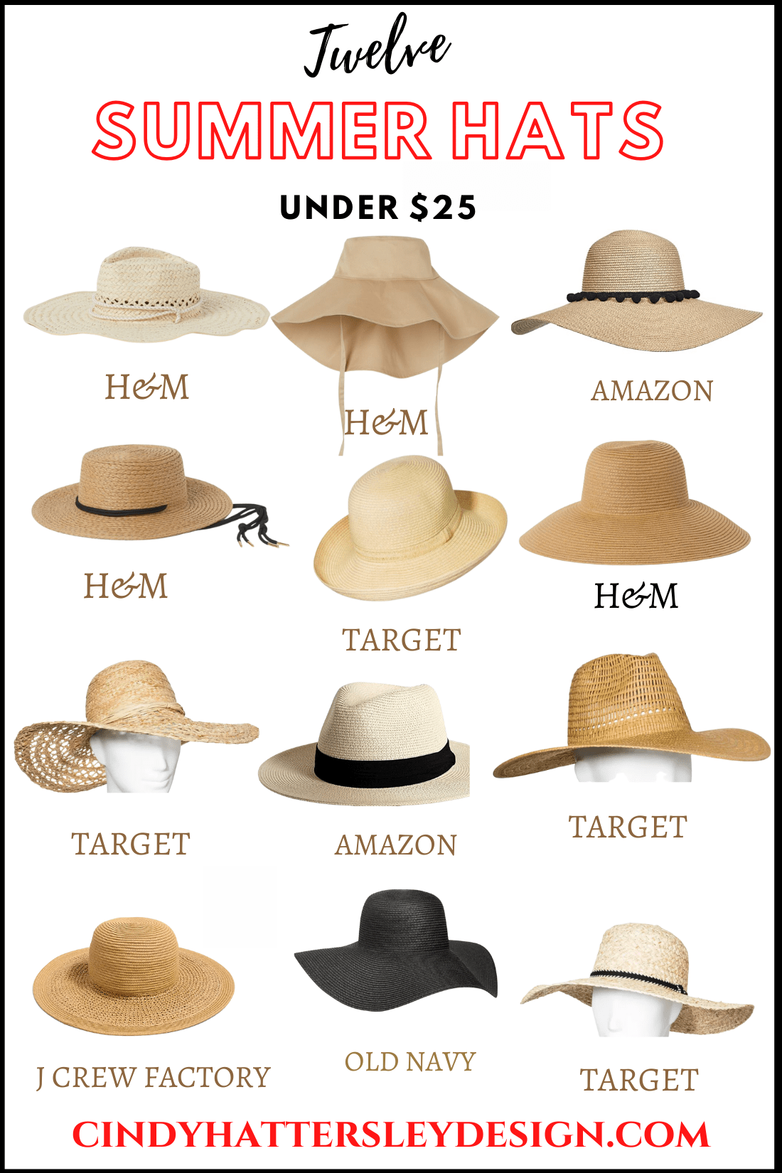 12 summer hats under 25