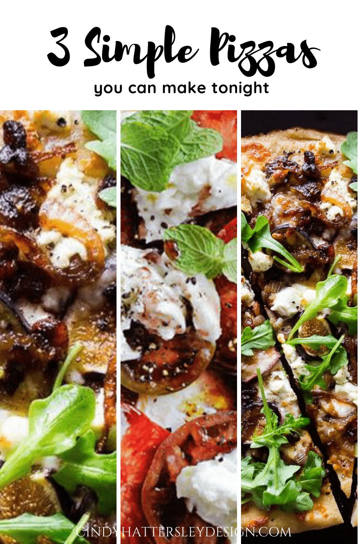 3 simple pizza recipes
