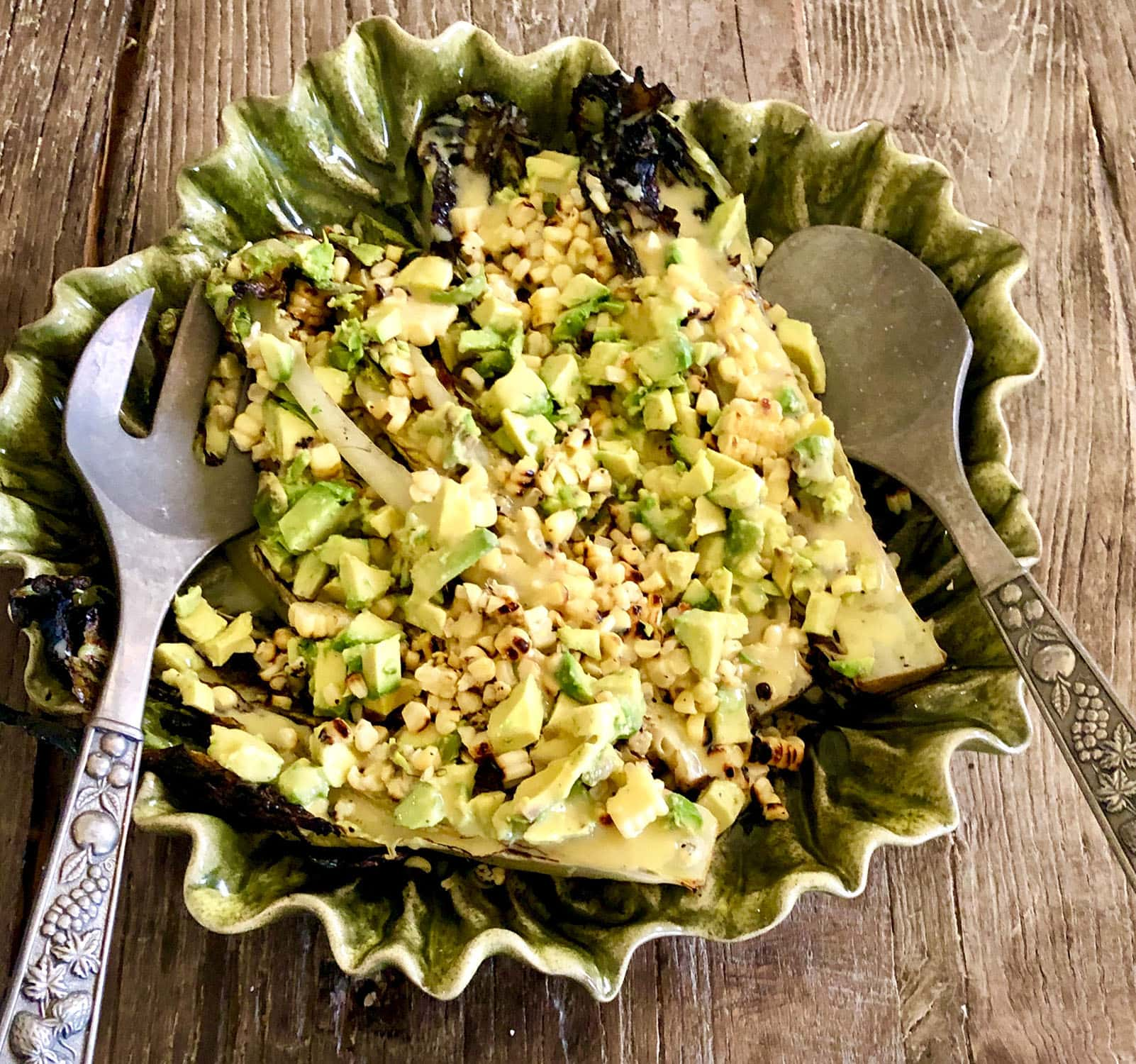 GRILLED ROMAINE WITH CORN AND AVOCADO