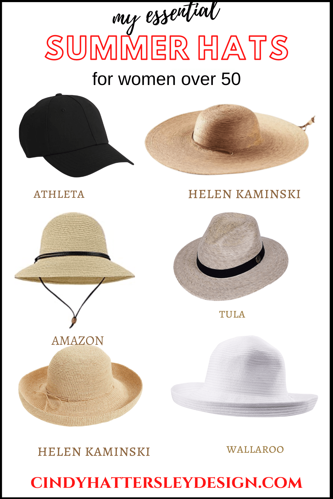 essential summer hats for women over 50