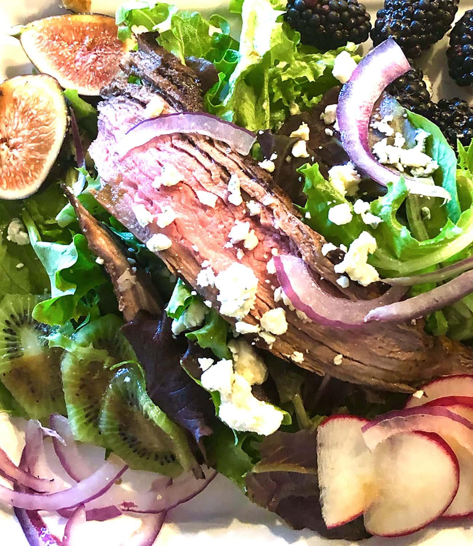 grilled flank steak salad