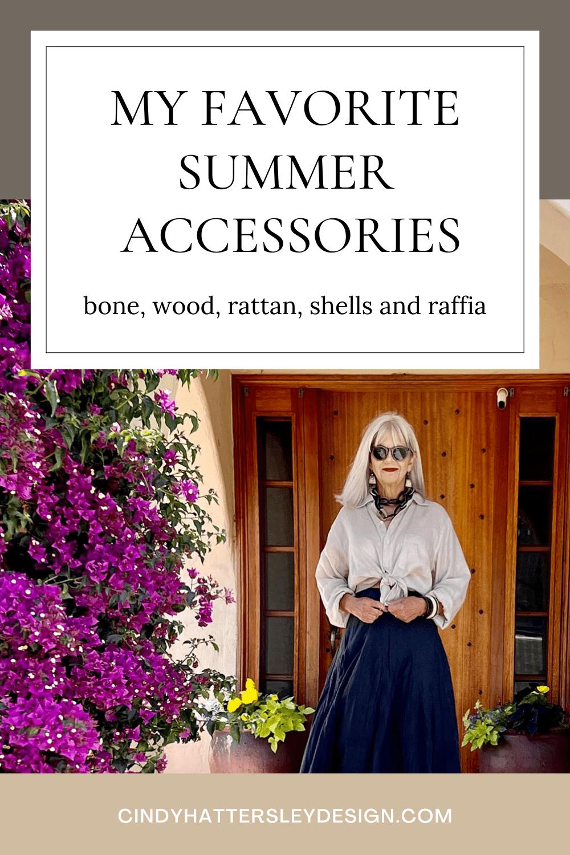 cindy hattersley's favorite summer accessories
