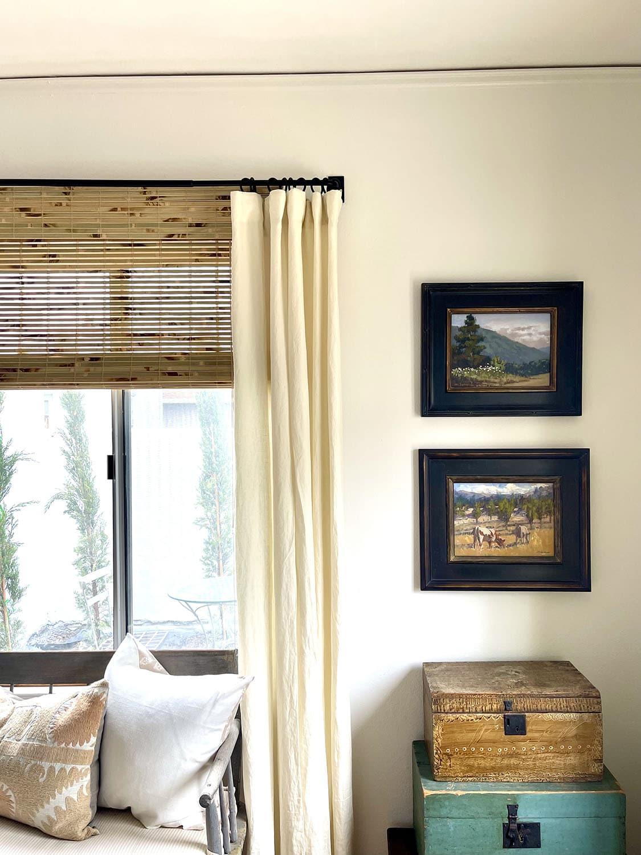 pat huber's art in cindy hattersley's primary bedroom