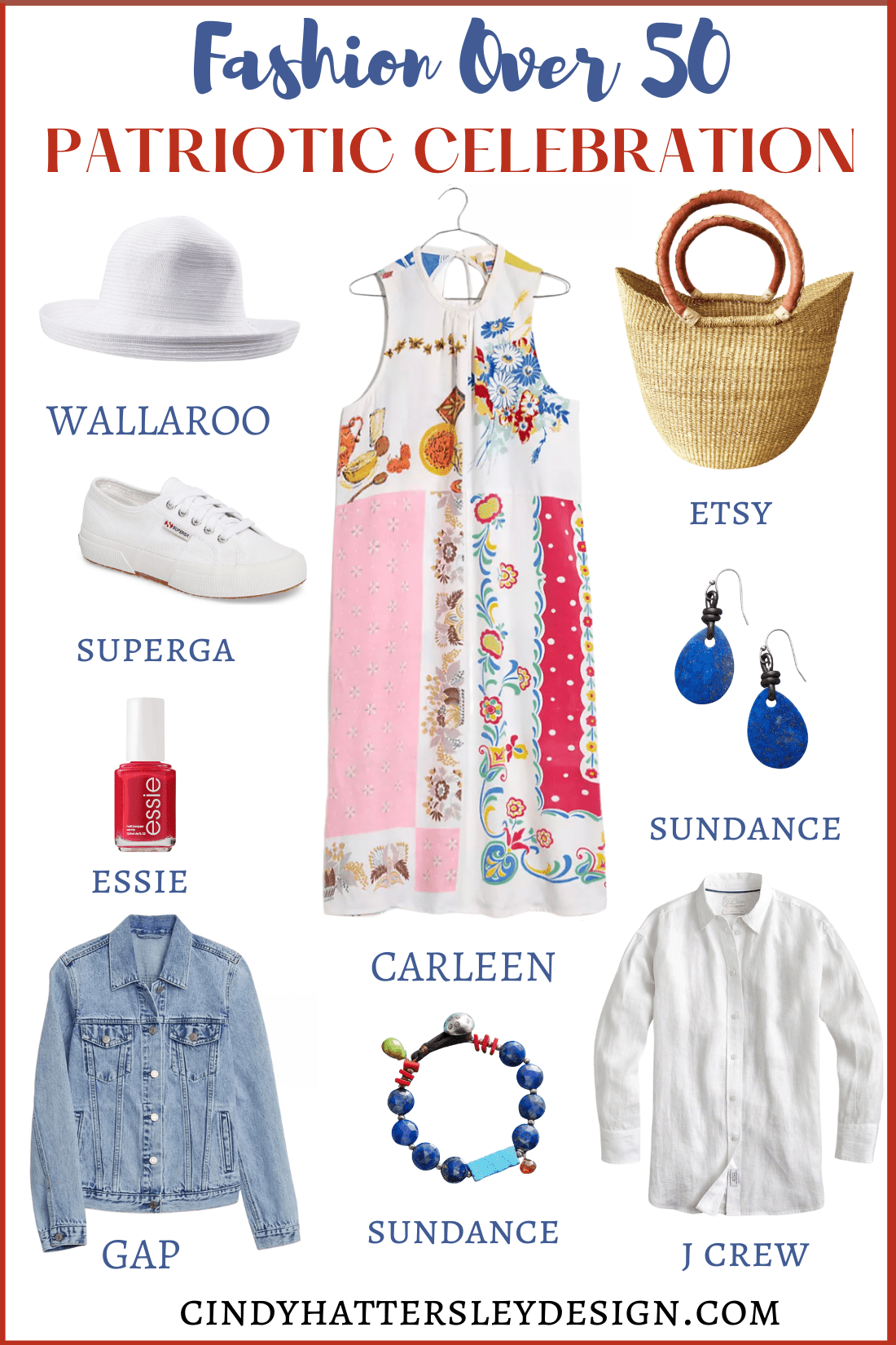 FASHION OVER 50 PATRIOTIC OUTFIT