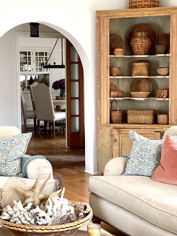 cindy hattersley's fixer upper living room corner cupboard area