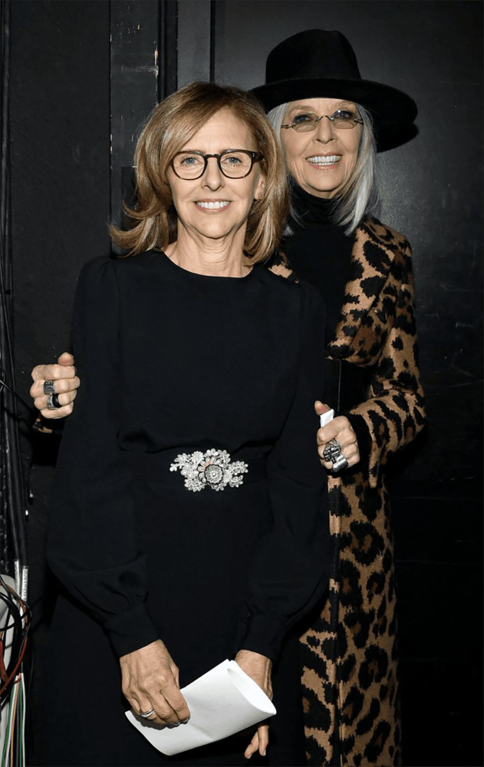 getty image of diane keaton and nancy meyers writers guild awards