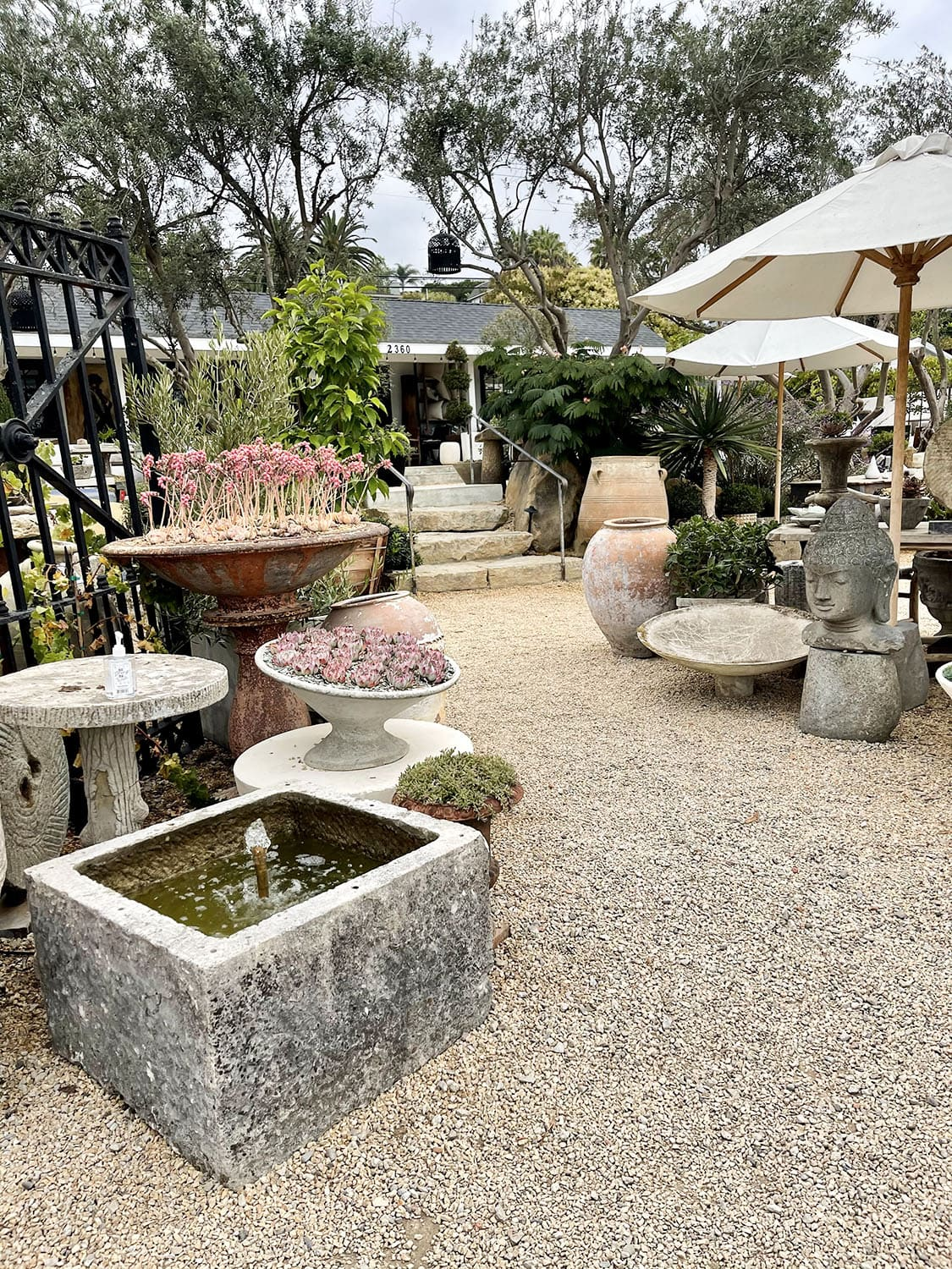 the well patio area