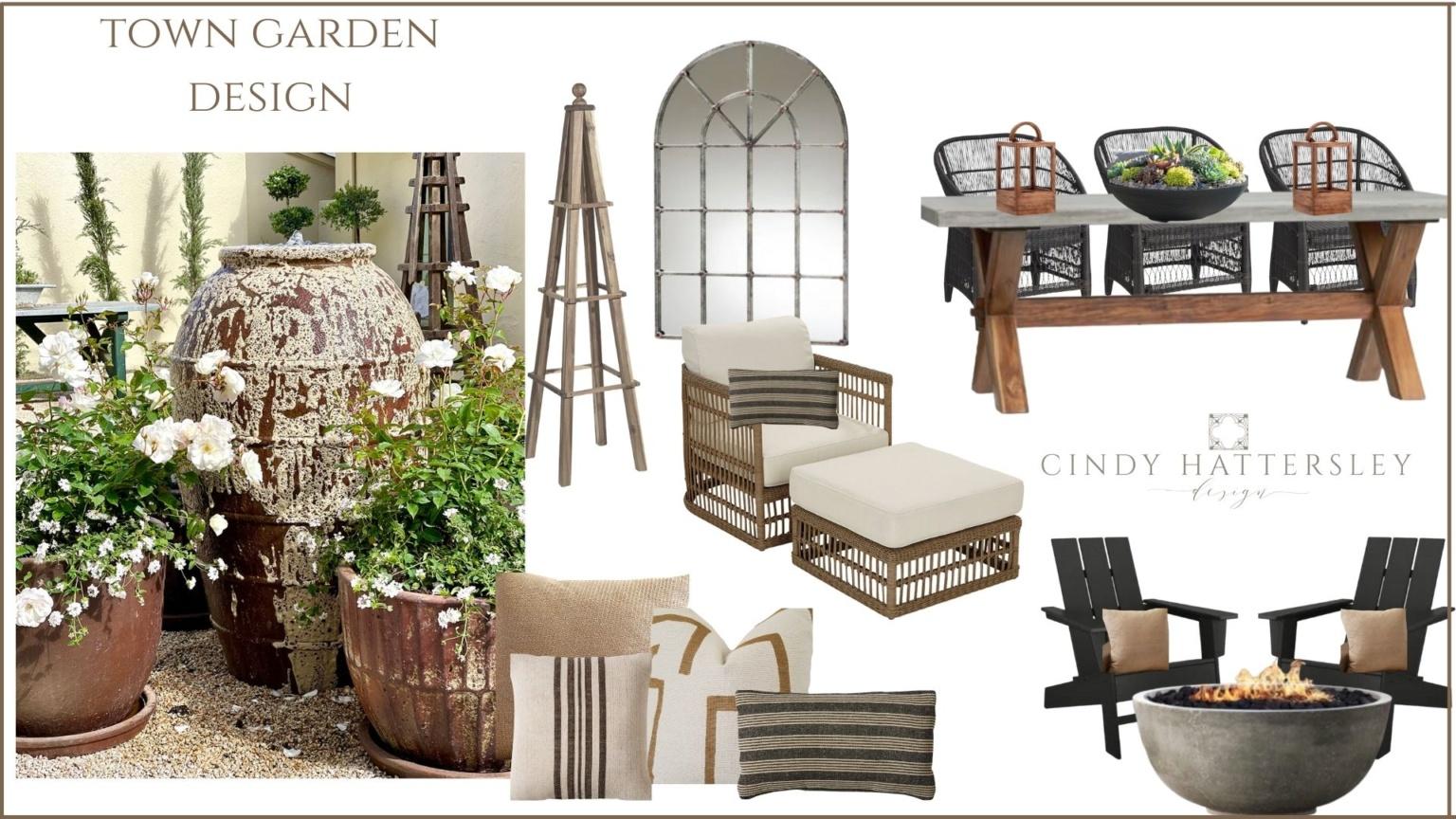 town garden plan cindy hattersley design