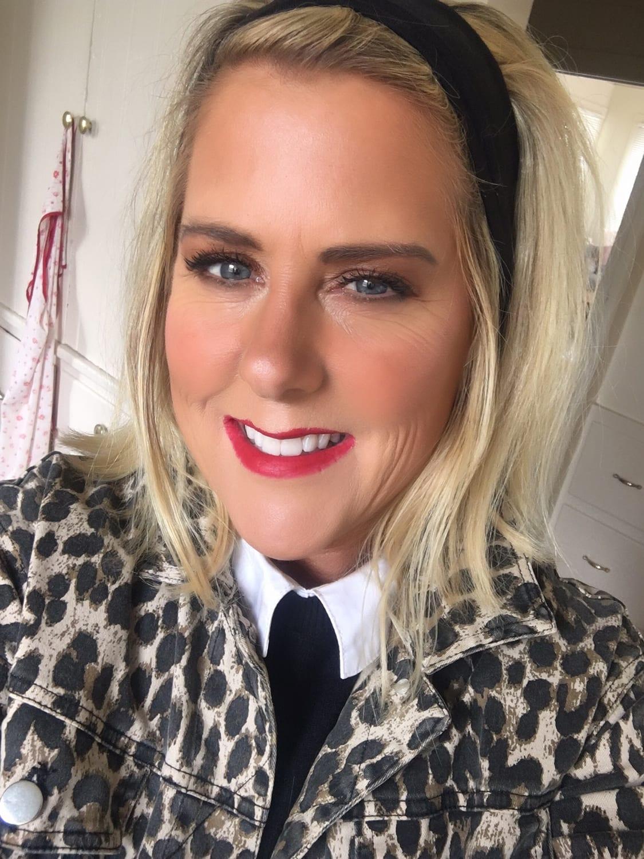 Kelly Ann Swift in Leopard Jacket