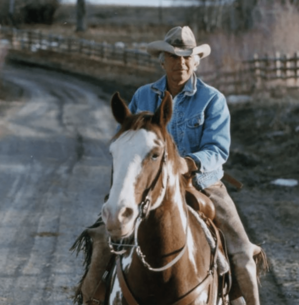 RALPH LAUREN ON HORSEBACK IN COWBORYS AND INDIANS