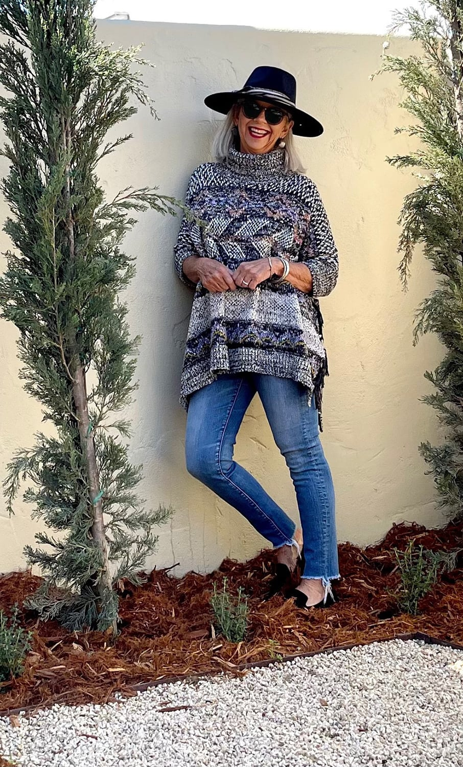 cindy hattersley in Anthro marled sweater