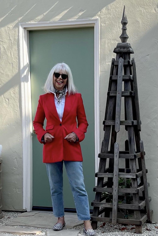 cindy hattersley in BP red blazer