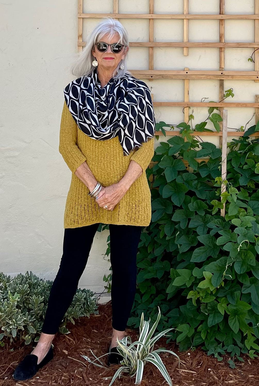 cindy hattersley with draped scarf
