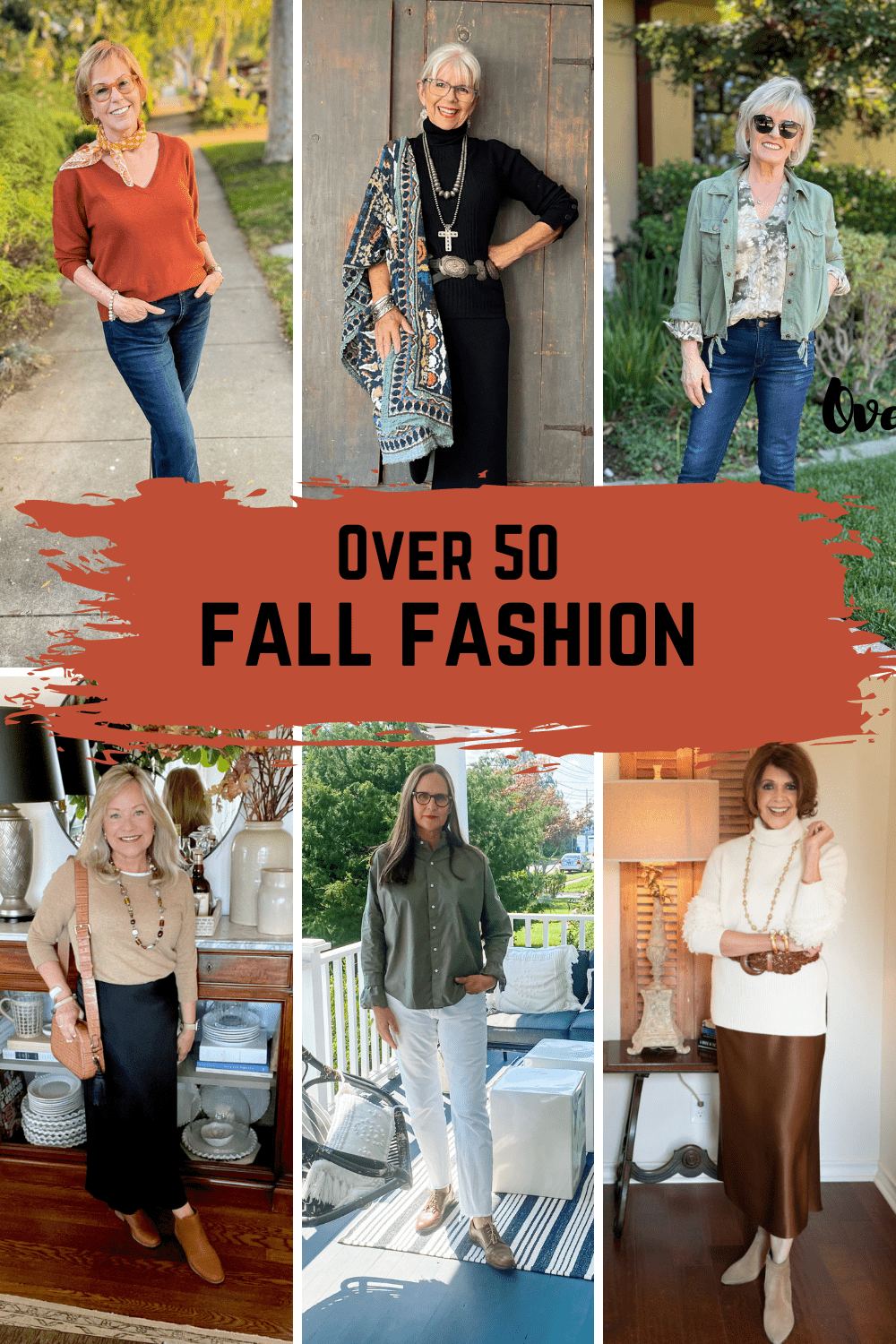 over 50 fall fashion graphic