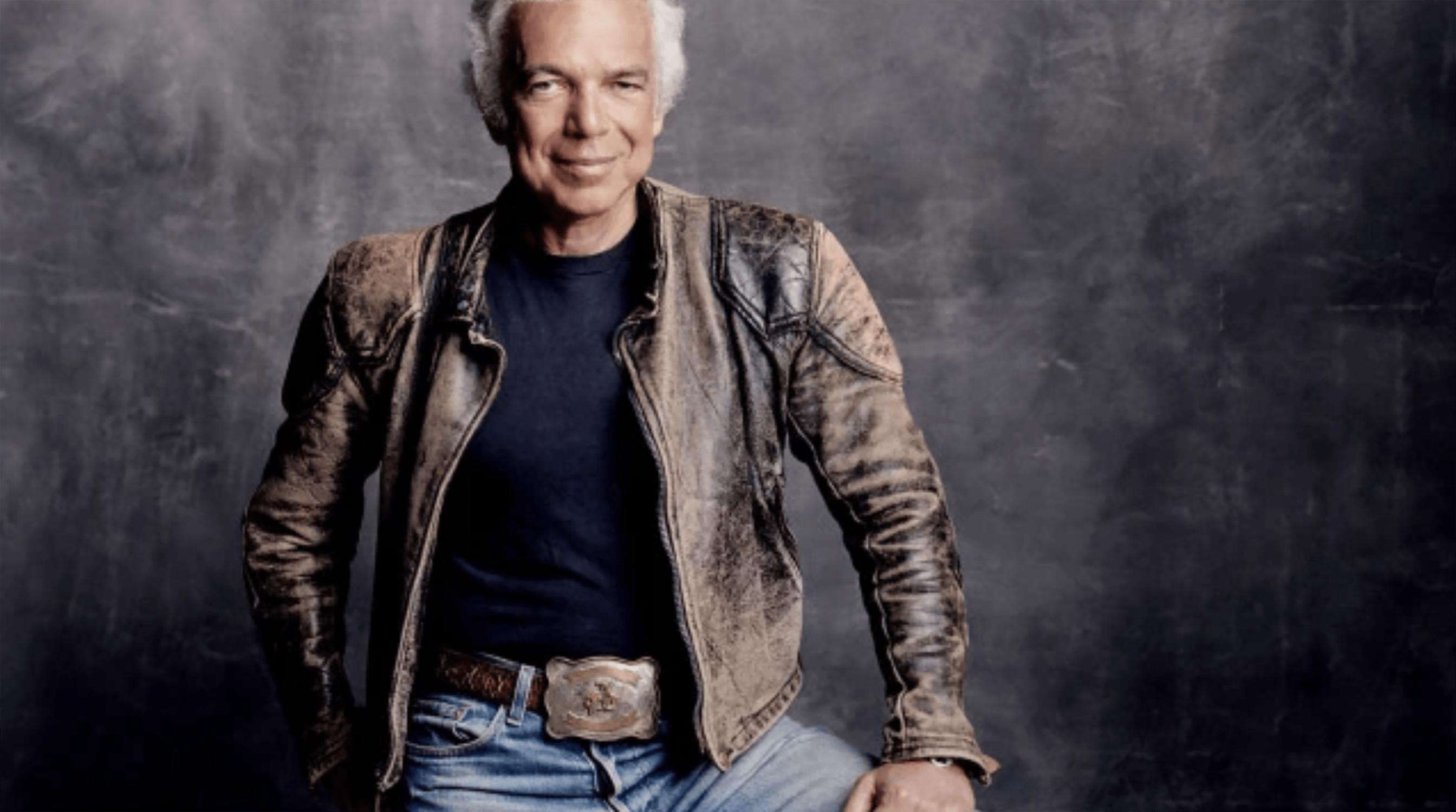 ralph lauren in leather jacket