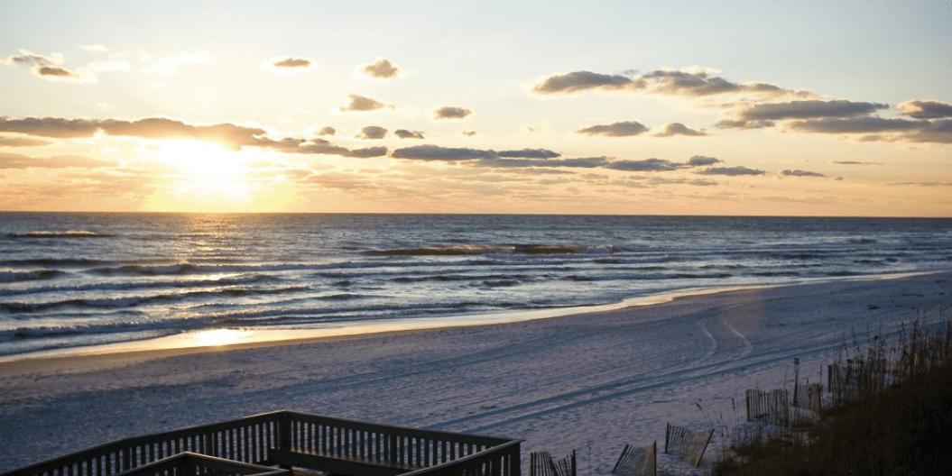 rosemary beach at sunset