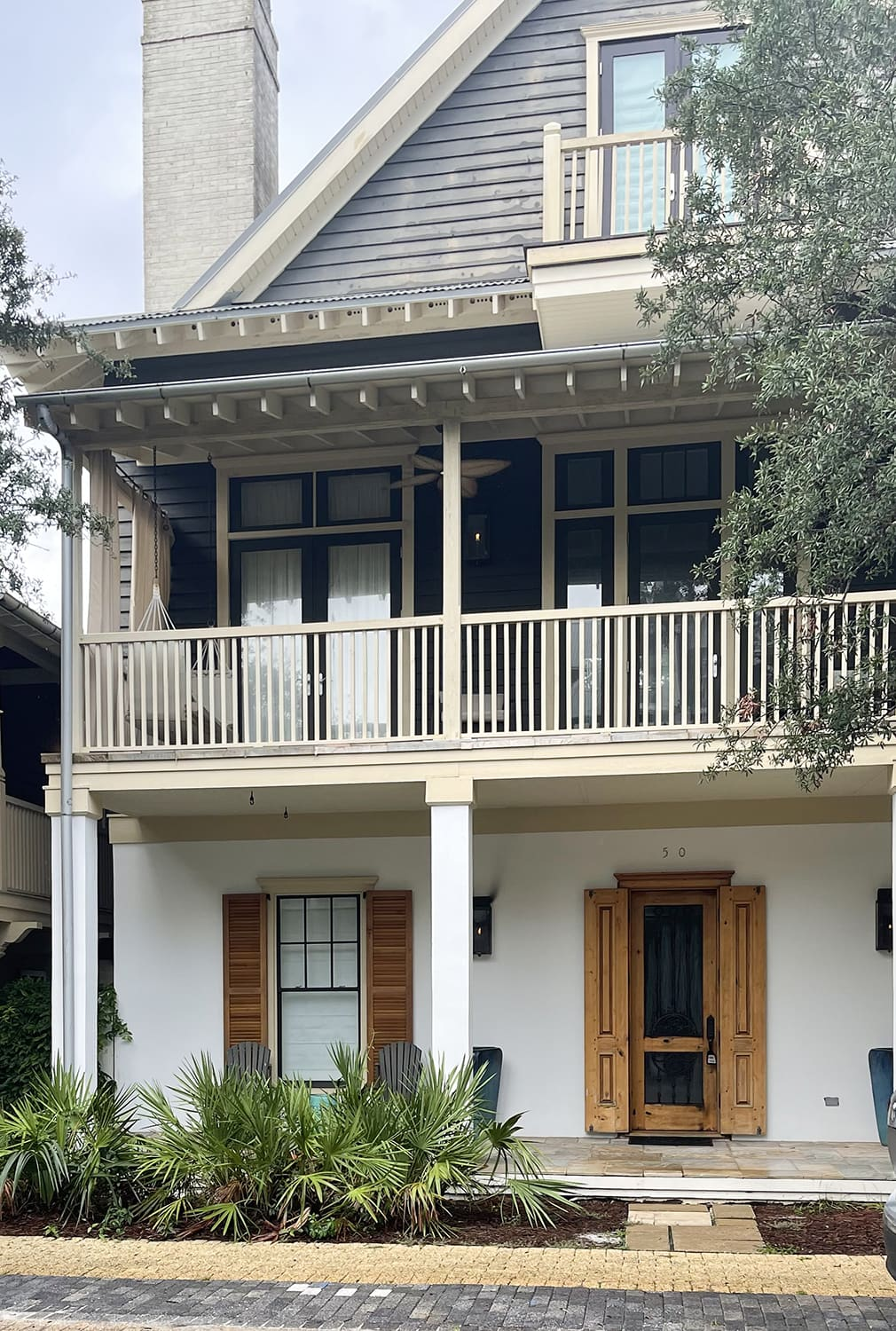rosemary beach home with antique shutters