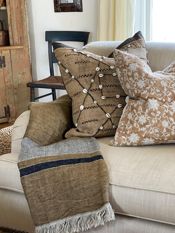 Krinto Pillows and Libeco Throw