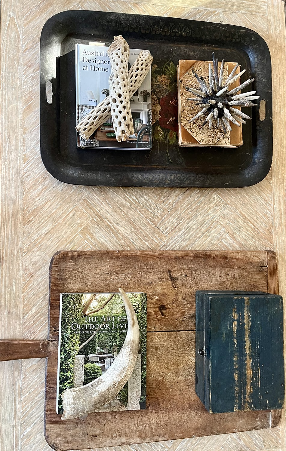 cindy hattersley's fall coffee table styled