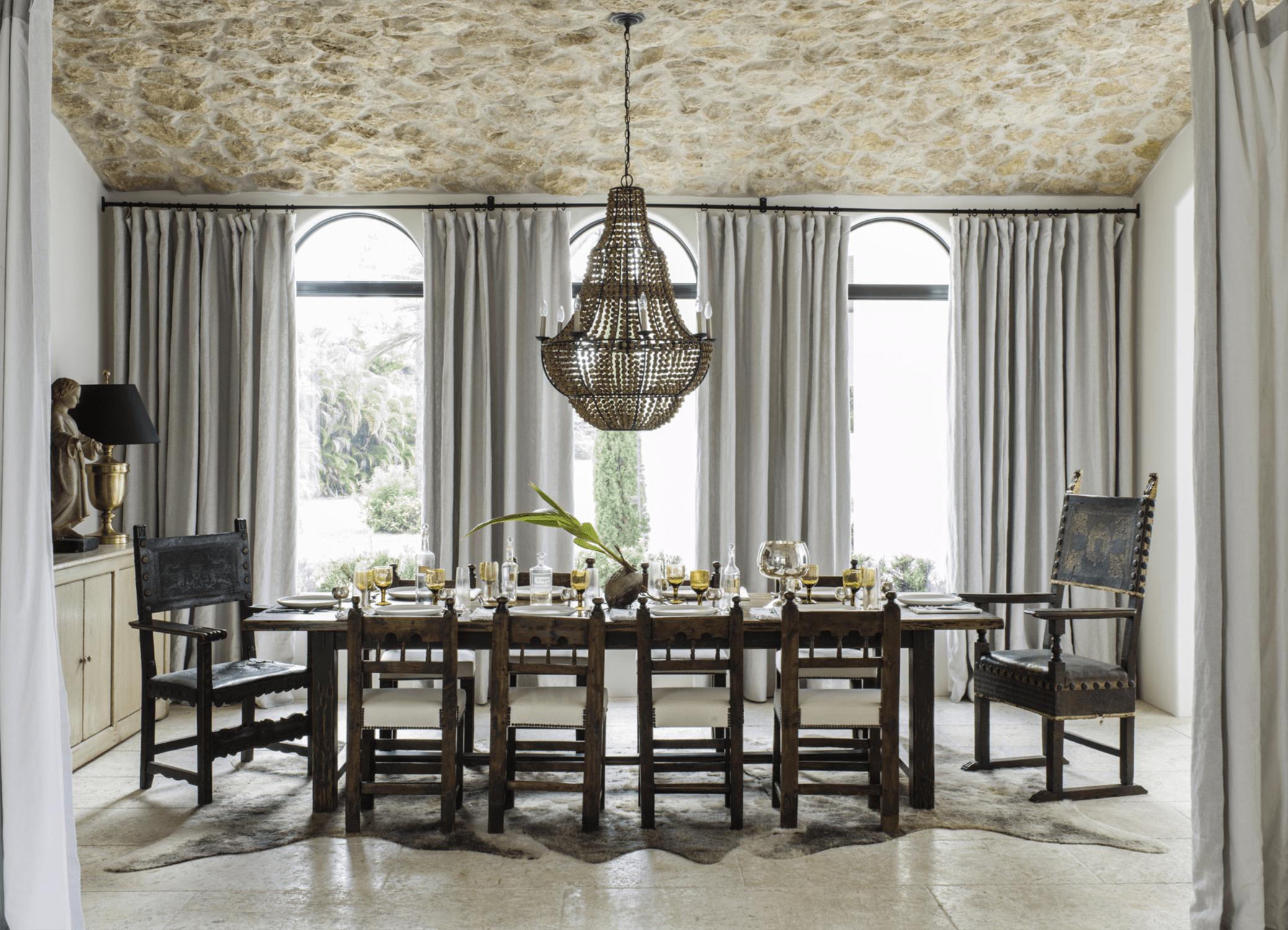 lauren liess designed dining room