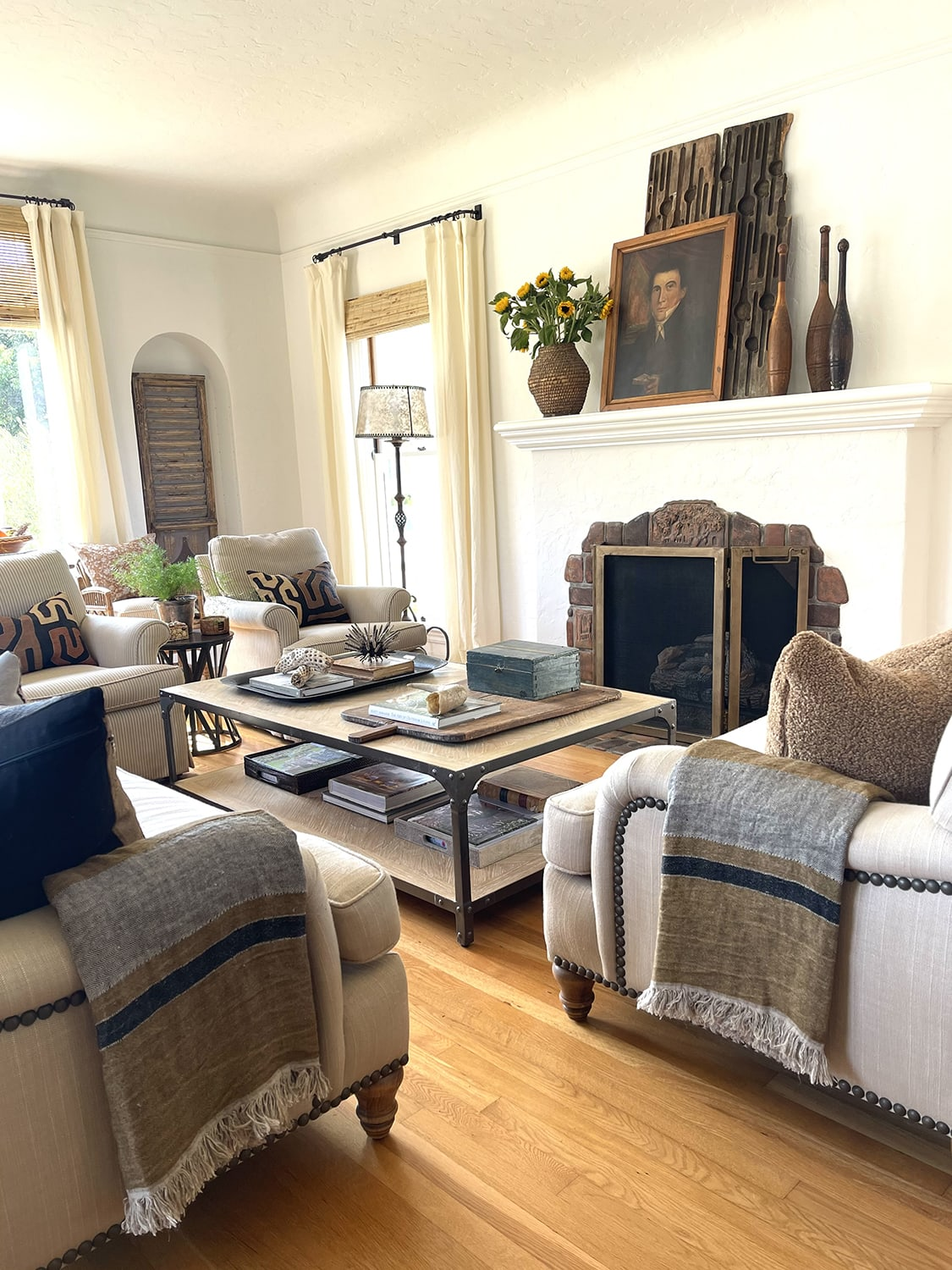 cindy hattersley's fall living room