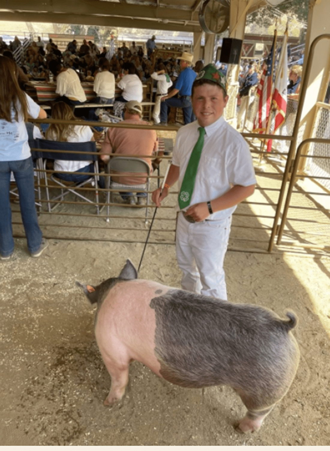 tyler and his pig
